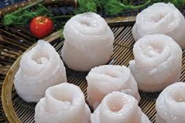Cá tra cuộn bông hồng